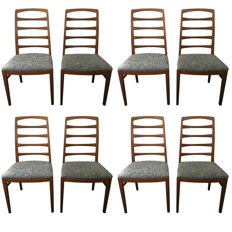 1957 Reno Oak Bodafors Swedish Designer Chairs Bertil Fridhagen 12 Chairs  For Sale