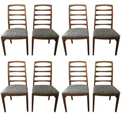 1957 Reno Oak Bodafors Swedish Designer Chairs Bertil Fridhagen Eight Chairs