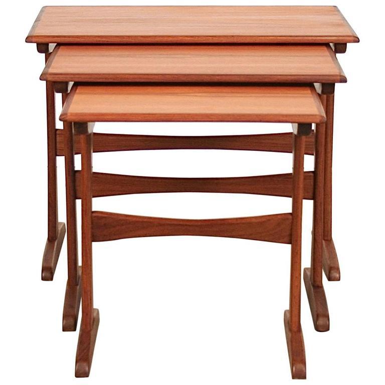 Vintage Danish Teak Nesting Tables 1
