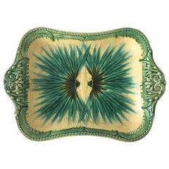 Majolica Palm Platter Sarreguemines, circa 1870
