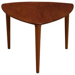 Mid Century Teak Side Table by Gustav Bahus