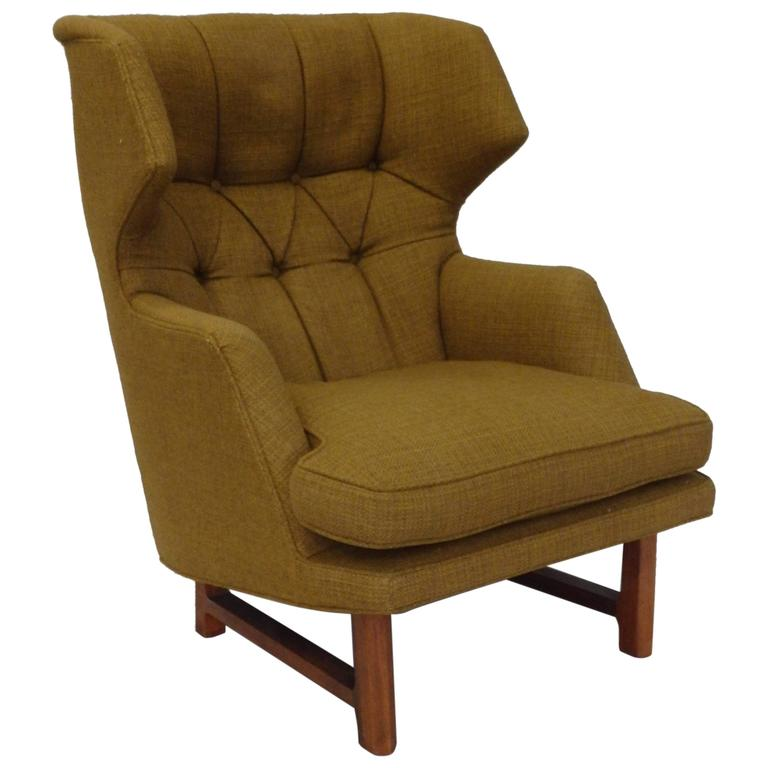 Edward Wormley For Dunbar Modernist Wingback Lounge Chair