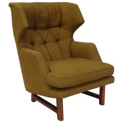 Edward Wormley for Dunbar Modernist Janus collection Wingback Lounge Chair