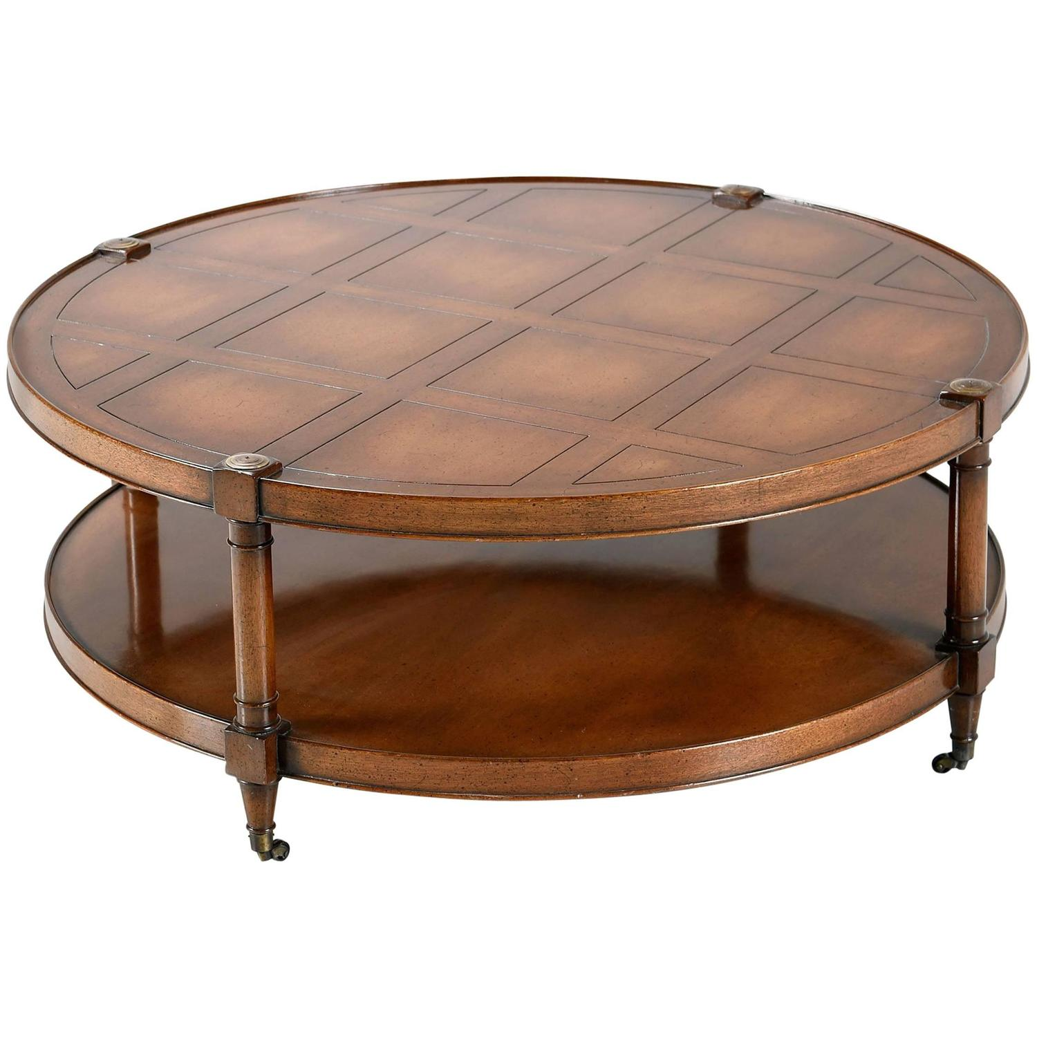 Mahogany Campaign Style Box Stand Coffee Table at 1stdibs