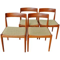 Rare Set of Four Kai Kristiansen Model 4110 Dining Chairs