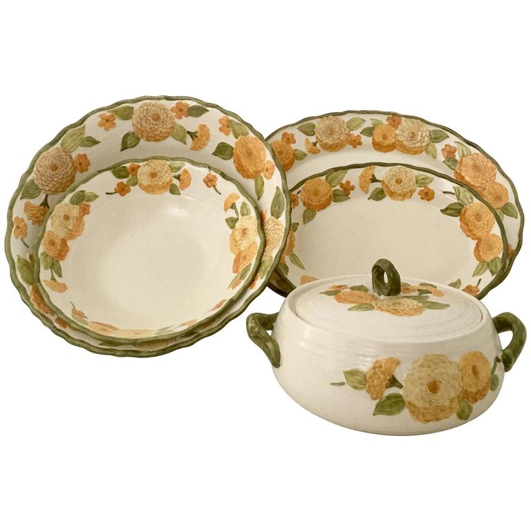 1960u0027S Ceramic Metlox  Zinnia  Dinnerware Set of Six ...  sc 1 st  1stDibs & 1960u0027S Ceramic Metlox
