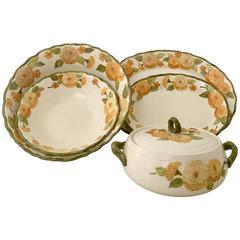 "1960'S Ceramic Metlox ""Zinnia"" Dinnerware Set of Six Pieces"