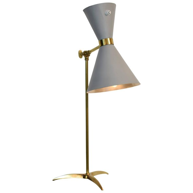 Mid-Century Stilnovo Table Lamp with Diavolo Lampshade