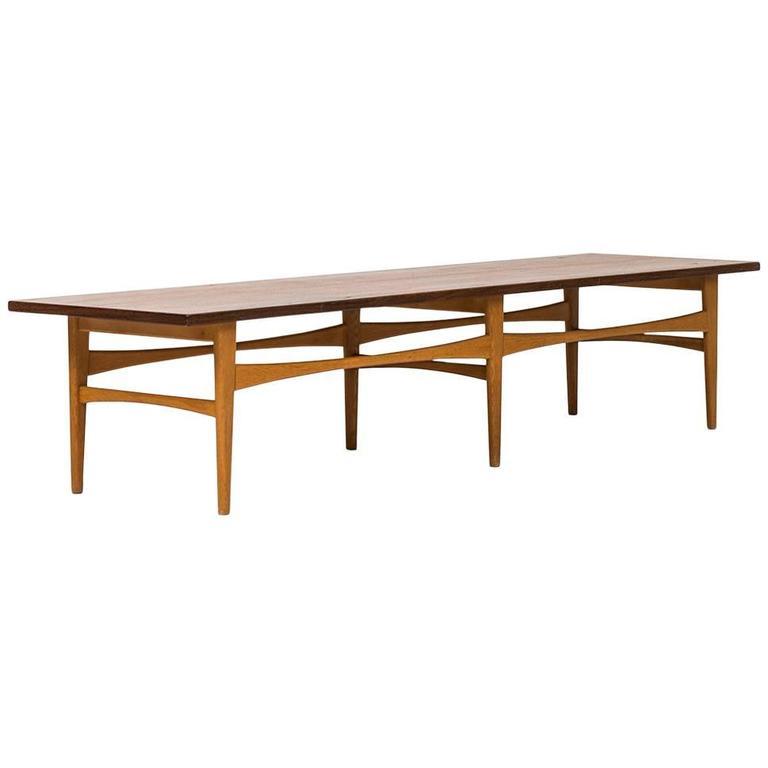 Eric Johansson Bench / Side Table Model TV5 by Abrahamsson Möbelfabrik in Sweden