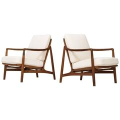 Tove & Edvard Kindt-Larsen Easy Chairs Model 117 by France & Daverkosen