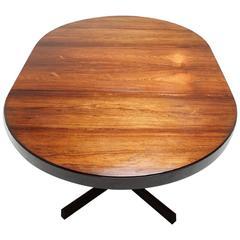 Vintage Danish Rosewood Extending Pedestal Dining Table by Kai Kristiansen