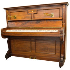 Bogs & Voight Upright Piano in Walnut Art Deco Finish
