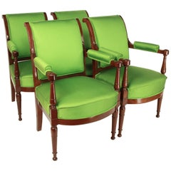 Set of Four Mahogany Armchairs in the Manner of Henri Jacob, circa 1795
