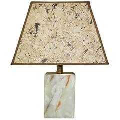 Onyx Lamp with Cork Shade Deknudt House