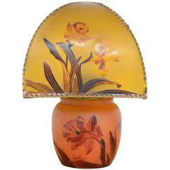 Art Nouveau Hand-Painted Table Lamp by Victor De Winner