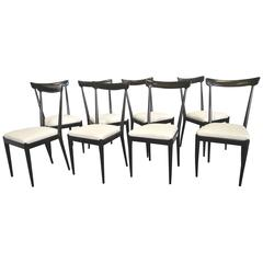 Beautiful Set of Eight Chairs Model 38A Ico Parisi, 1947