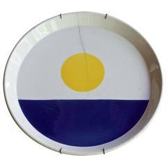 Worn and Cracked Fantasia Italiana Gio Ponti Plate as Wall Art