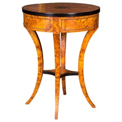 South German Side Table in Biedermeier Style