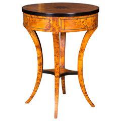 South German Side Table in Biedermeier Style