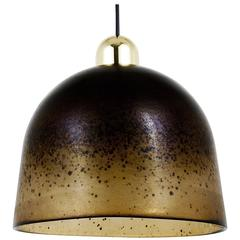 Beautiful Brown & Amber Mid-Century Peill & Putzler Pendant Lamp, Germany, 1970s