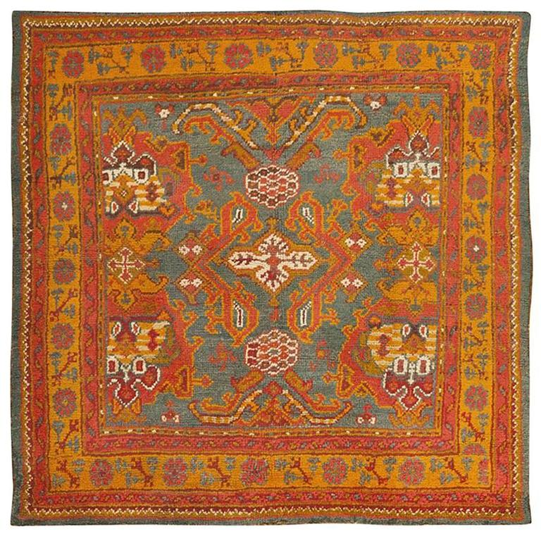 Antique Turkish Oushak Rug For Sale At 1stdibs