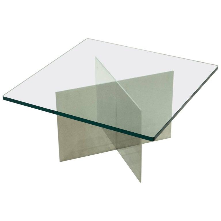 Paul Mayen Polished Aluminum Cocktail Table for Habitat