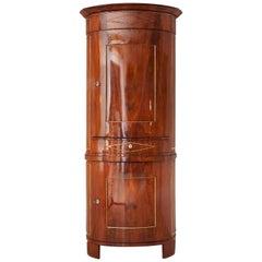 Biedermeier Corner Cabinet, Northern Germany, 1820