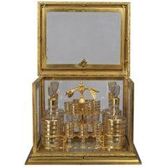 Fine and Decorative Gilt-Bronze and Cut-Glass Decanter Set, circa 1890