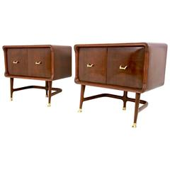 Stunning Pair of Nightstands in the Style of Carlo de Carli for Dassi, 1950s