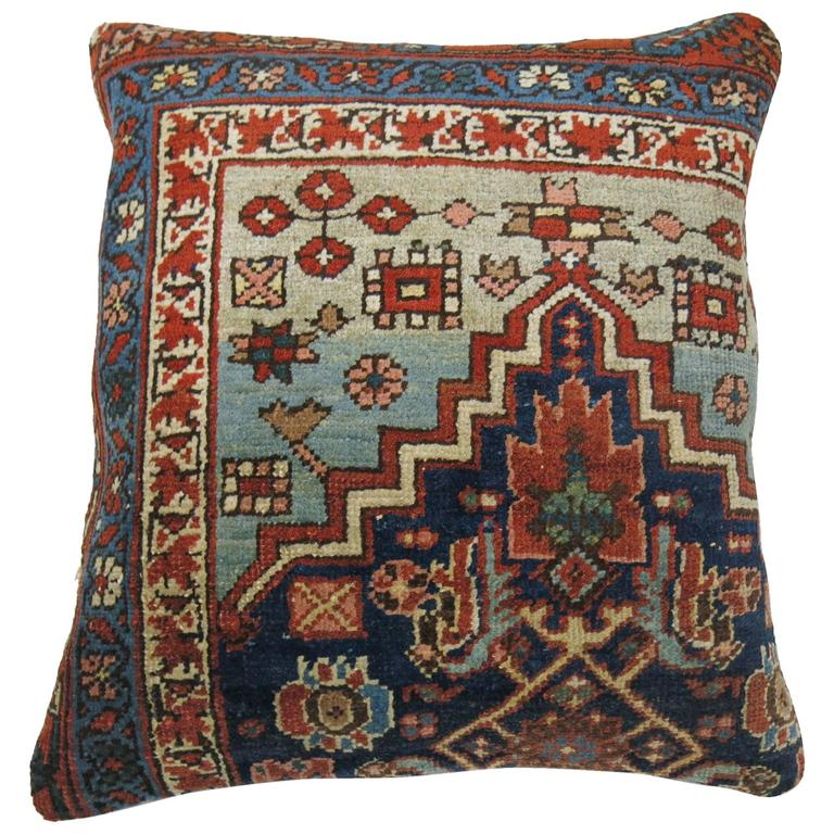 Antique Persian Bidjar Rug Pillow