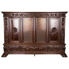 Neo Renaissance Carved Cabinet, circa 1900