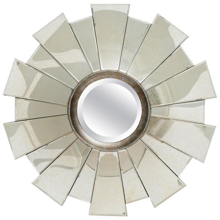 Art Deco Style Sunburst Mirror For Sale