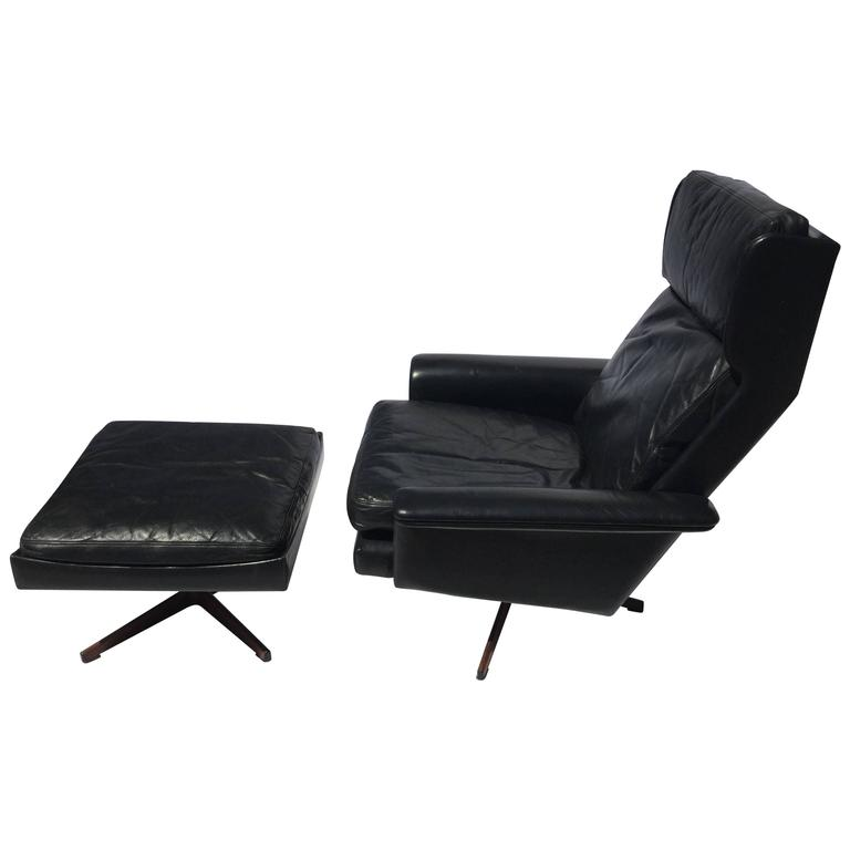 leather easy chair with ottoman danish leather and teak easy chair with ottoman for sale 16623 | 7723973 l