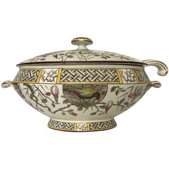 Aesthetic Movement Soup Tureen with Ladle
