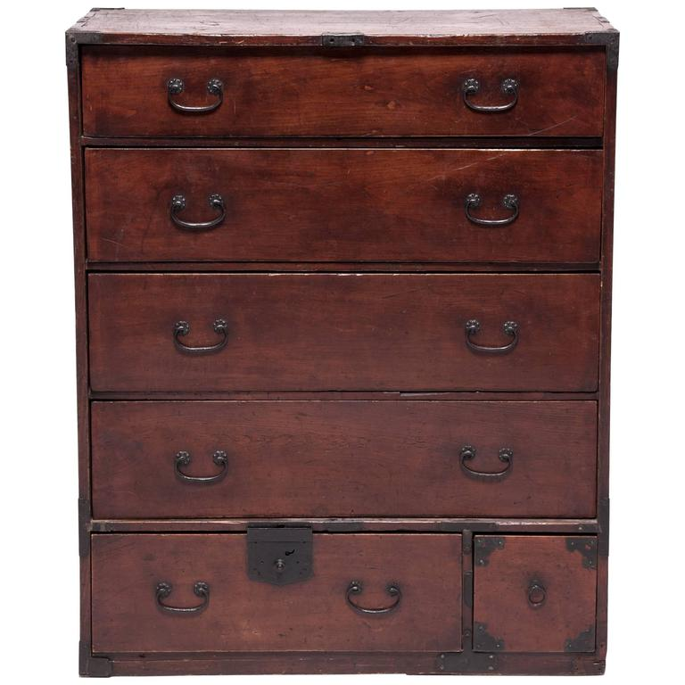 Early 20th Century Japanese Tansu Chest 1