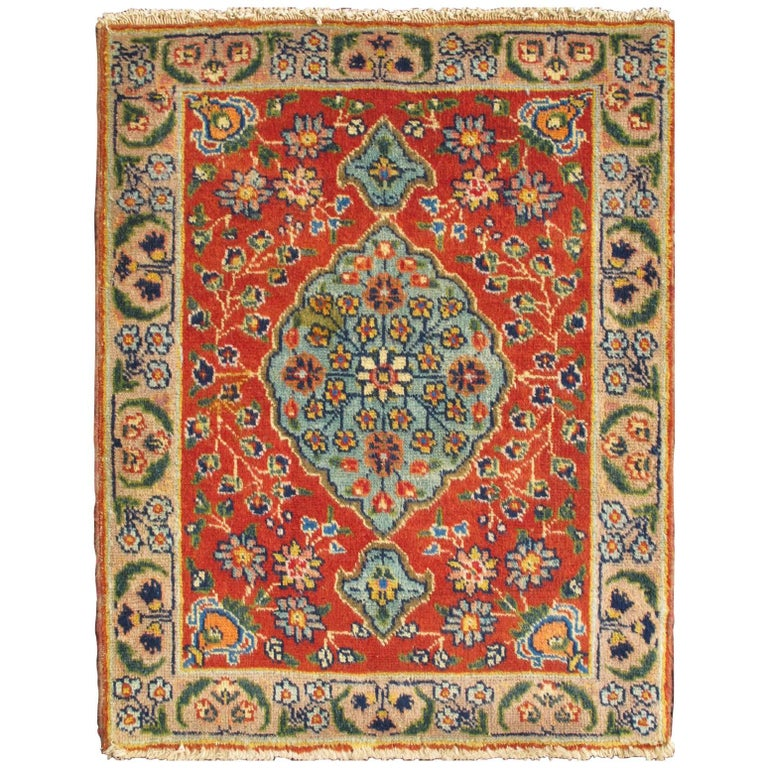 Colorful antique tabriz rug with circular medallion for Colorful rugs for sale