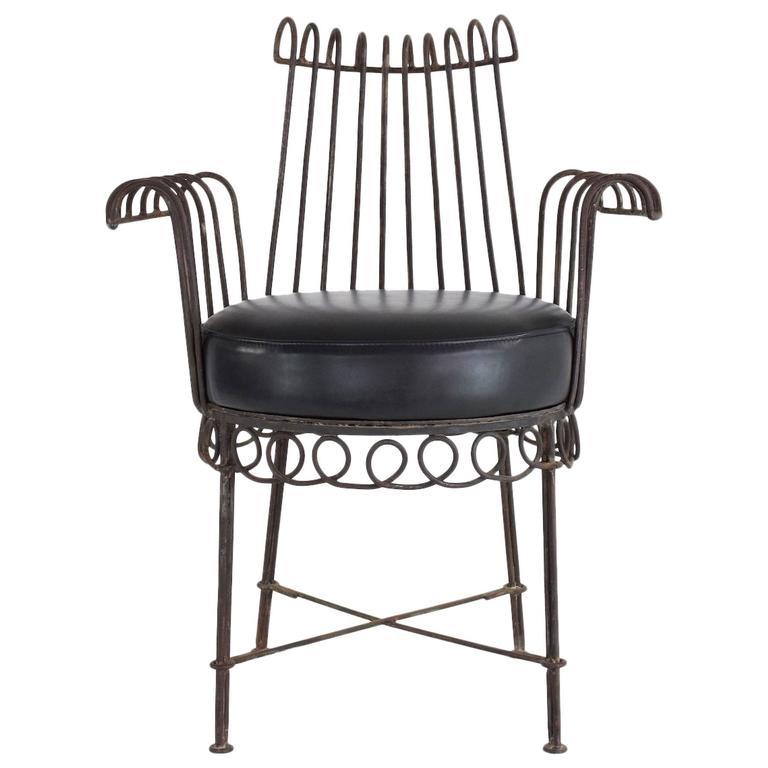 Mid-Century Mathieu Matégot Cap d'Ail Chair