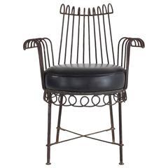 French Mid-Century Cap d'Ail Chair by Mathieu Matégot, 1950's