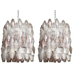 "Vintage ""Poliedri"" Chandeliers by Carlo Scarpa for Venini"
