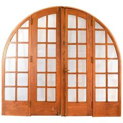 Large Arched Oak Door Unit, circa 1920