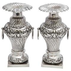 Pair of Continental Silver '.800' Dutch Victorian Bud Vases