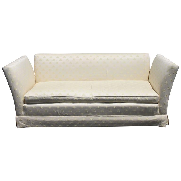 Ordinaire Baker Furniture Knole Open Arm Settee Or Loveseat Sofa For Sale