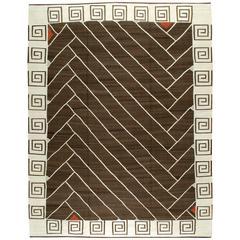 Modern Persian Kilim Style Flat-Weave Rug