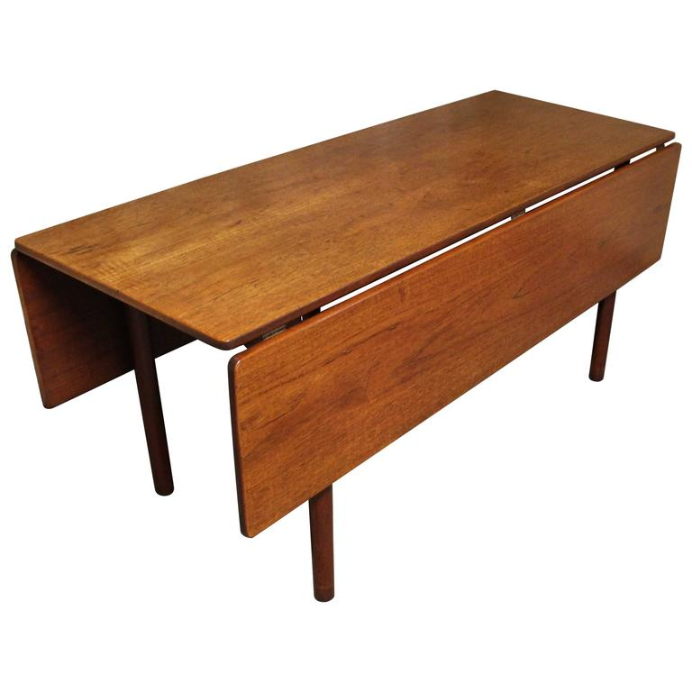 Børge Mogensen Danish Teak Fredericia Drop Leaf Dining Table For