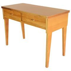 Mid-Century Italian Cherry Desk In the Style of Ico Parisi 1950's