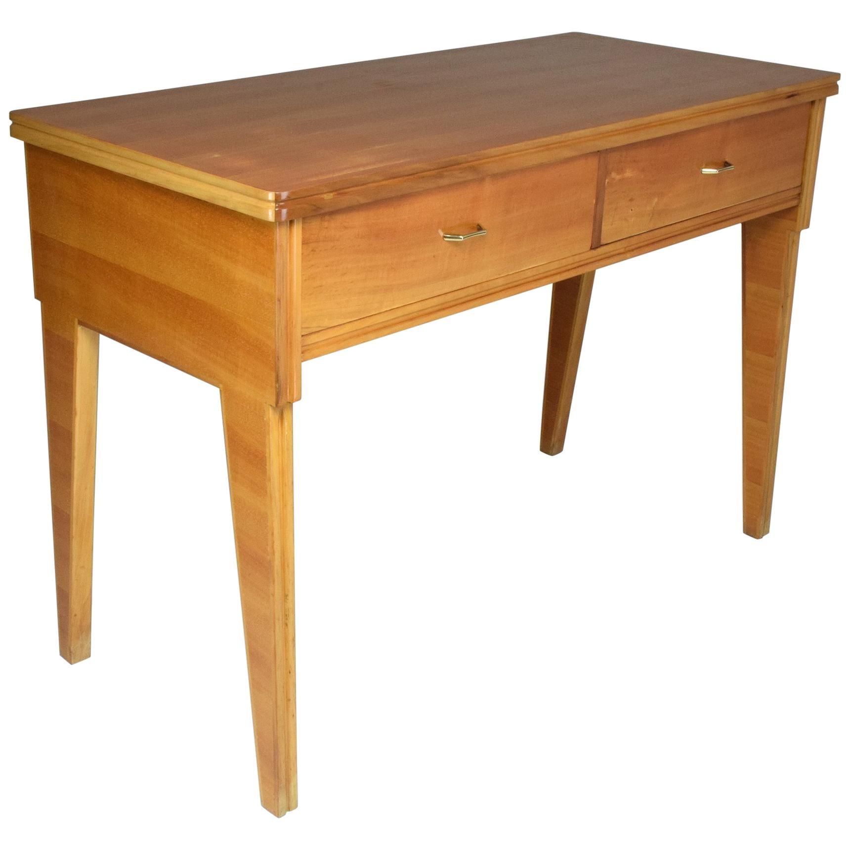 Italian Midcentury Cherry Desk, 1950s