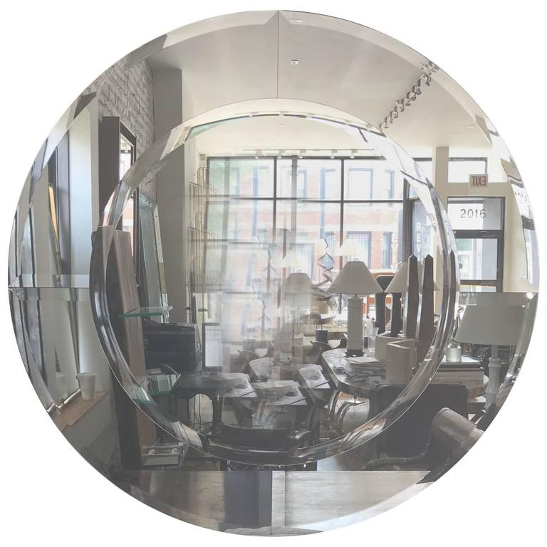 Karl Springer Round Large Saturn Mirror For