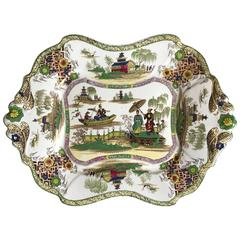 English Chinoiserie Platter