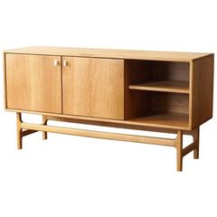 ST03 Sideboard in Solid White Oak with Carved Corian Door Handles