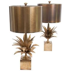 """Matched Pair of """"Agave a Gorge"""" Table Lamps by Maison Charles"""